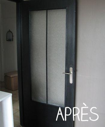 Relooker une porte dans un esprit industriel id maison home decor armoire et loft - Relooker une porte ...