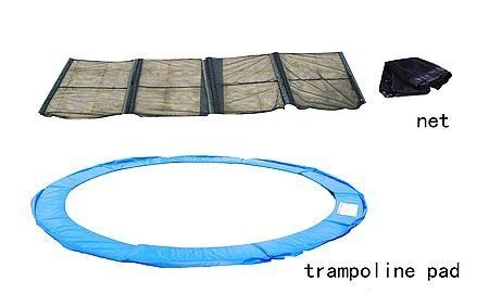 Aosom 13' Ft Trampoline Safety Pad w/ Enclosure Net Combo by Aosom. $64.97. Aosom 13' Trampoline Pad And Safety Net Combo    You are looking for a 13ft trampoline pad and net combo. If your pad and net has been in torn or ruptured condition, substitute this brand new combo of Pad for the old one! It is able to give the maximum protection to the kids, teens or adults from bouncing out of the mat and being scratched by the spring hooks when they are enjoying the ...