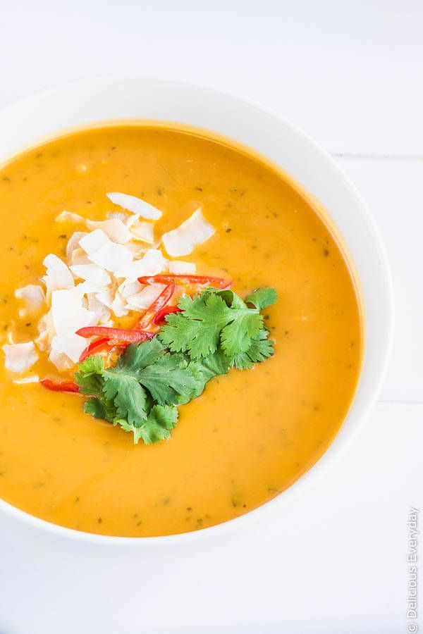 Thai Pumpkin Soup #soup #thai #recipe