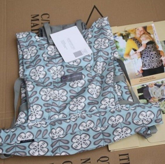 FREE SHIPPING New ErgoBaby Carrier Box Manual Designer Organi Peaceful Portofino