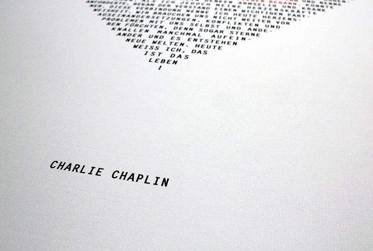 Charlie Chaplin: Als ich mich selbst zu lieben begann... Druck gewidmet der Selbstliebe.