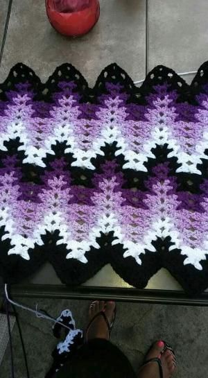 Breaking Amish crochet blanket by Elaine Fink