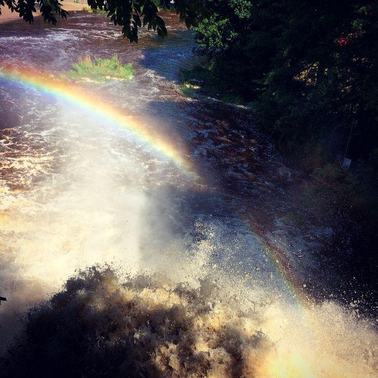 The waterfalls from Coo #belgium #rainbow