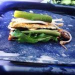 Mediterranean style rice paper rolls. Recipe on poemanddish.com