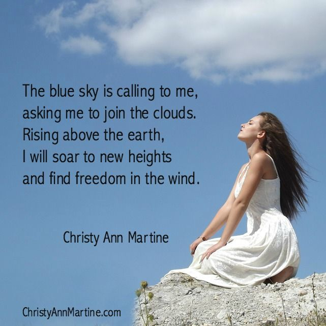 Finding Freedom poem by poet Christy Ann Martine - #poetry #poems #nature #sky