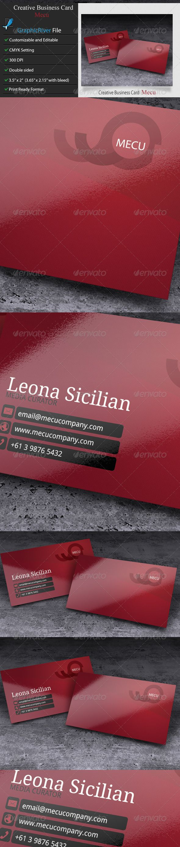 Creative Business Card - Mecu
