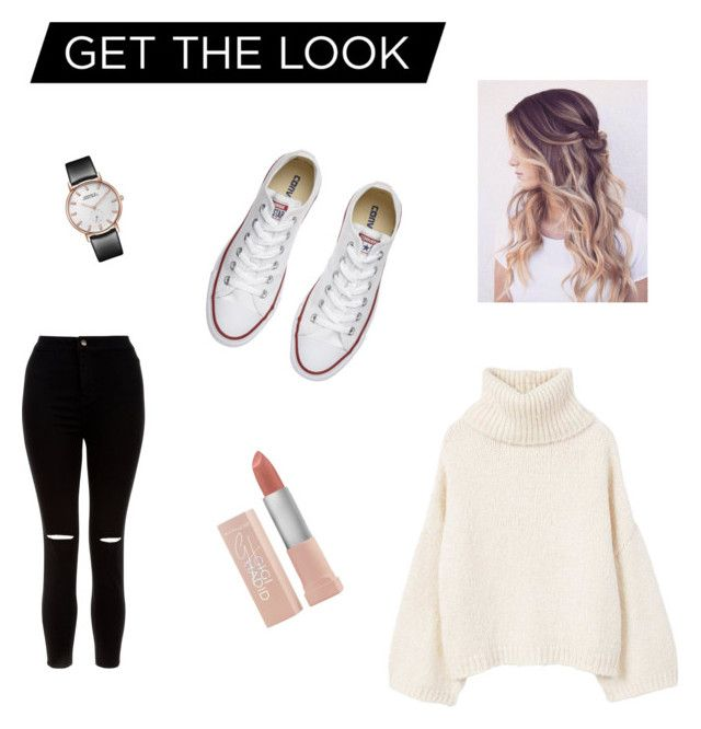 """""""Chill outfit 2"""" by nitasusan on Polyvore featuring MANGO, New Look, Maybelline and Converse"""