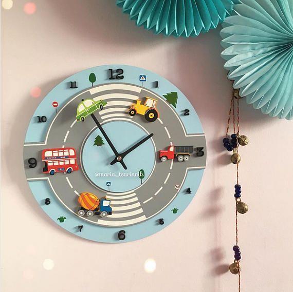 Coches de reloj reloj para chico para guardería del niño