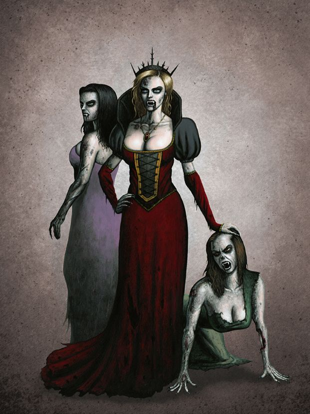 Erzsebet, the Blood Countess, concept art for fantasy ...
