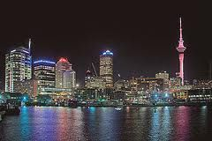 auckland from the air at night - Google Search