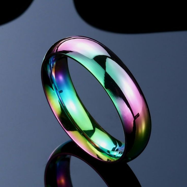 Rainbow Ring Men's New Brand Unique Hight Polished stainless steel Simple Jewelry for man women BR-R063