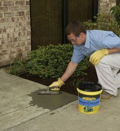 How to repair crumbling and cracked cement home for Crumbling concrete floor