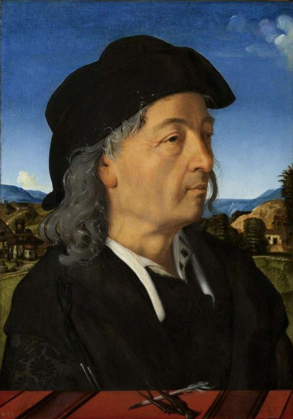 Piero di Cosimo also known as Piero di Lorenzo (1462-1522) — Portraits of Giulian Giamberti da Sangallo,1482-1485 : The Rijksmuseum, Amsterdam. Netherlands (595x850)