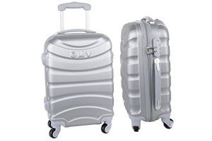 Valise trolley rigide GIANMARCO VENTURI argent bagages à main ryanair S307