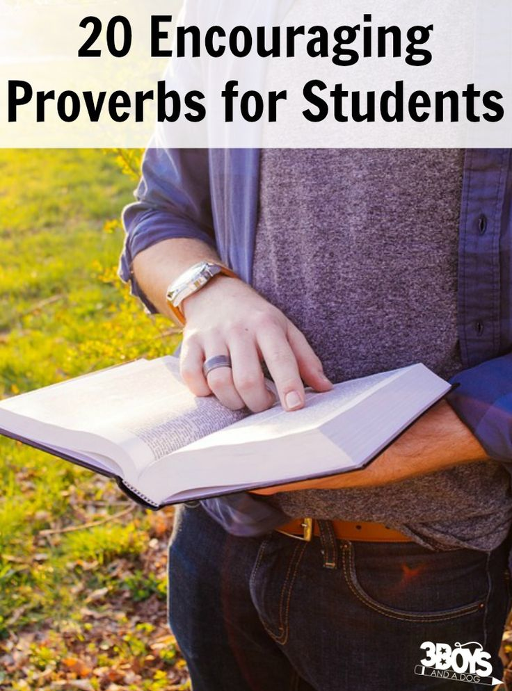 20 Encouraging Proverbs for Students http://3boysandadog.com/proverbs-for-students/?utm_campaign=coschedule&utm_source=pinterest&utm_medium=3%20Boys%20and%20a%20Dog&utm_content=20%20Encouraging%20Proverbs%20for%20Students