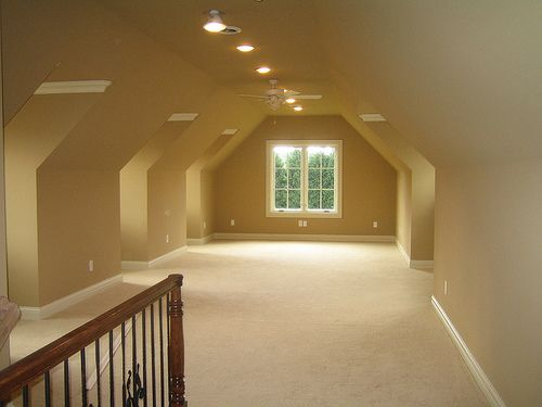 7 best bonus room ideas images on pinterest attic spaces for Painting rooms with angled ceilings