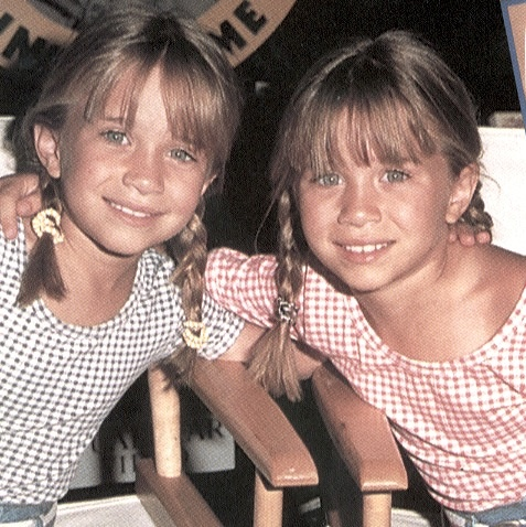 Olsen twins -- i think my niece looks like them at this age!!!
