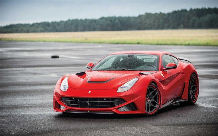 Hämta bilder Ferrari F12 Berlinetta, 2017, Novitec Rosso, N-Largo, Tuning F12 Berlinetta, superbil, Italienska sportbilar, Ferrari