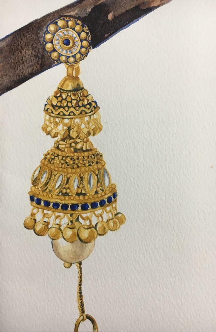 #Jhumka #Watercolor