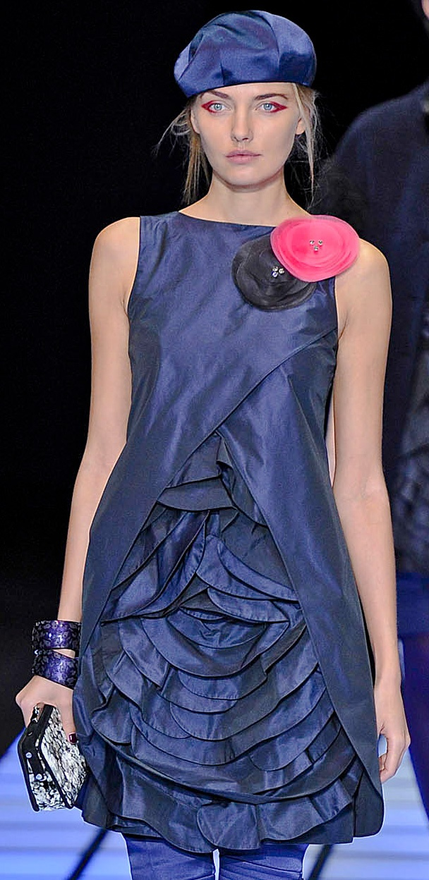 """..well this is such a cool dress, we will stretch the meaning of LBD to """"little blue dress""""!! - Emporio-Armani"""
