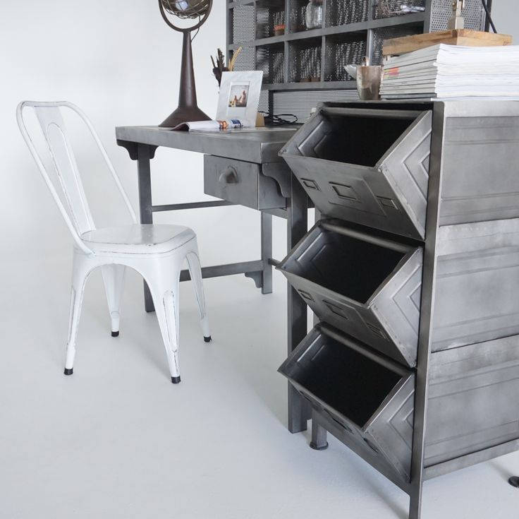 Sauvage Interiors industrial home office #industrialhomeoffice