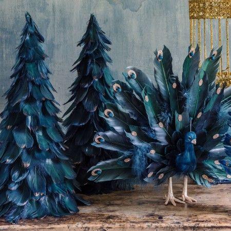 Green Glitter Feather Christmas Tree - Festive Home - Christmas Home - Christmas