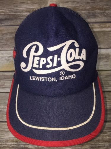 Paid $0.50 at church rummage sale, sold for $60 plus shipping.    Vintage-Pepsi-Cola-Hat-Cap-Lewiston-Idaho-Snapback-Trucker-Mesh-USA-Made-One-Sz