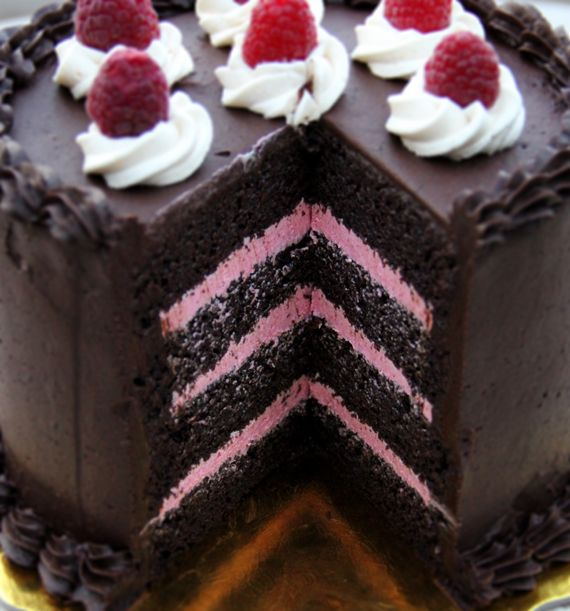 Double Chocolate Cake With Raspberry Filling Recipes — Dishmaps