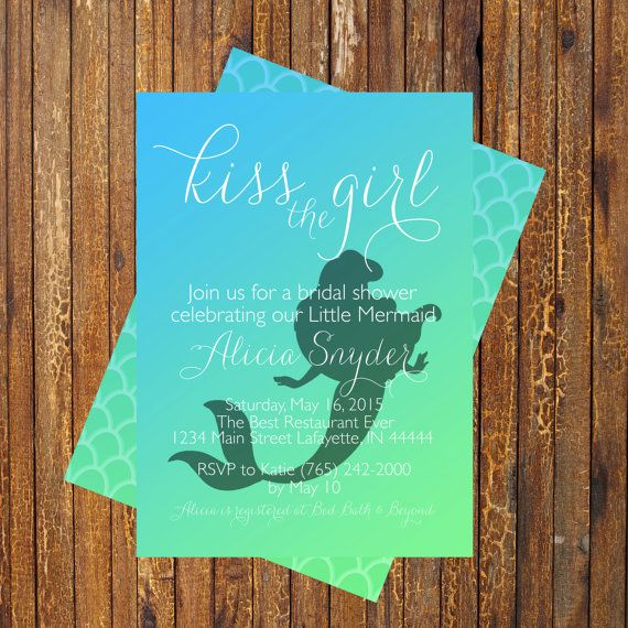 Little Mermaid Bridal Shower Invitation by CommUniquePrints