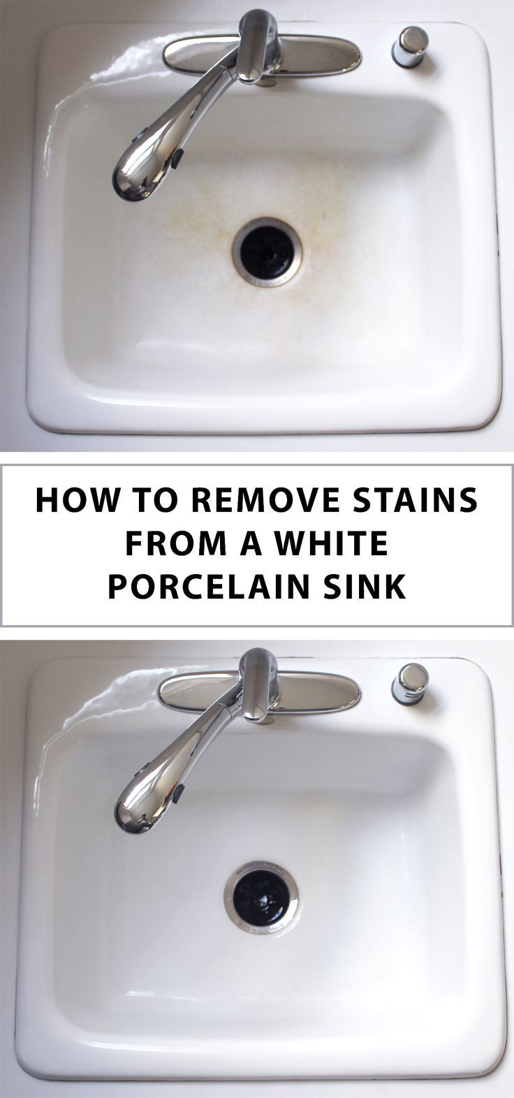 How To Clean A Kitchen Sink In 3 Minutes Porcelain Kitchen Sink