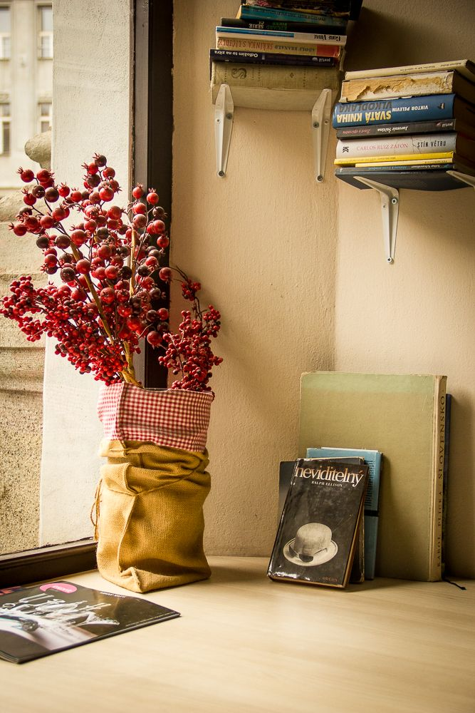 Did you know that books can easy replace shelf? Just put them on the holder instead of it :-)