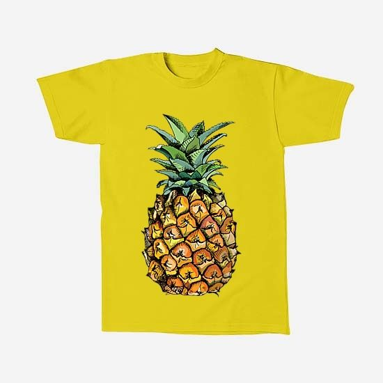 Kaos Pineapple via Tees Indonesia