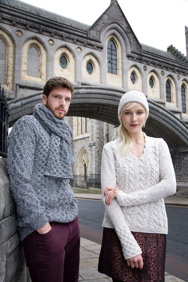 Irish Aran Sweaters by Irelands Eye Knitwear. Contemporary Irish design for Autumn Winter 2015.