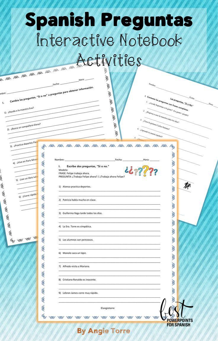 Spanish Questions Las Preguntas Activities Interactive Notebook Activities Spanish Interactive Notebook Activities Spanish Questions [ 1148 x 736 Pixel ]