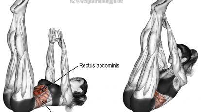 Vertical leg crunch exercise
