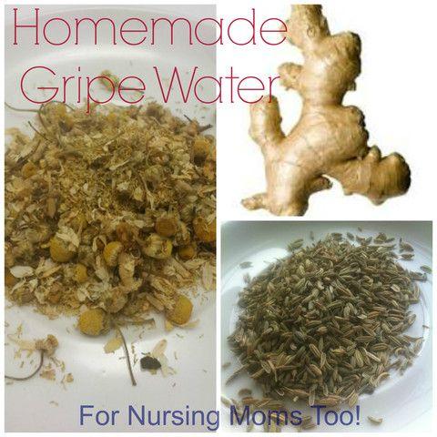 DIY Homemade Gripe Water - For baby or breastfeeding mom