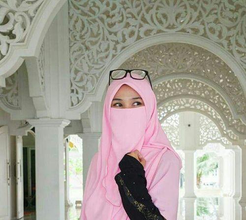 Pink Half Niqab