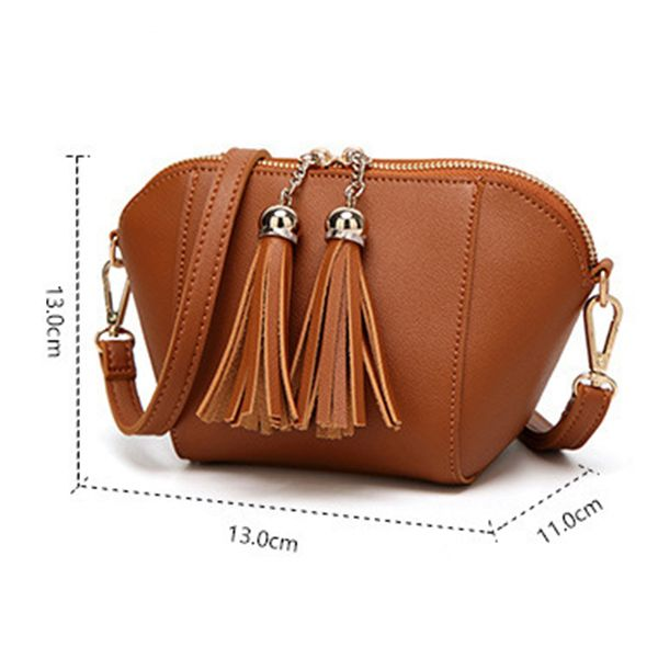 Hot-sale designer Stylish PU Leather Shell Tassel Handbag Shoulder Bag Crossbody Bag For Women Online - NewChic Mobile
