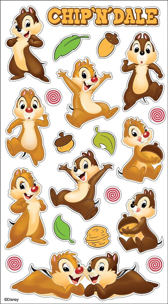 Hey, I found this really awesome Etsy listing at https://www.etsy.com/listing/174628859/disney-chip-n-dale-sticker-21-stickers
