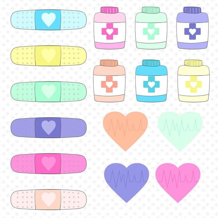Cute nurse clip art set instant download medical