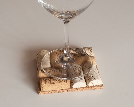 Wine Cork Coasters Set of 4 Newlywed Gift by MaxplanationPhotos