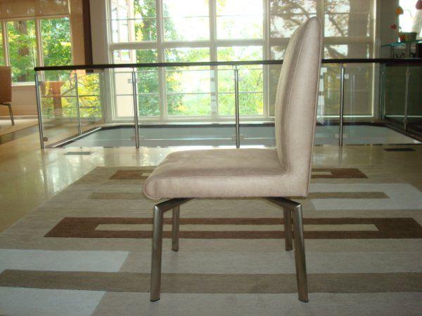Custom made leather chair.