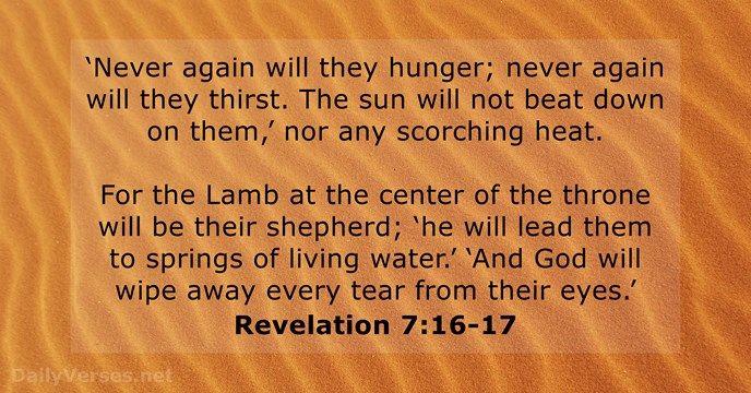 Revelation 7:16-17 - dailyverses.net