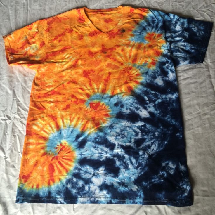 Waves at Sunset Tie Dye Tee inspired by the Pacific Ocean.