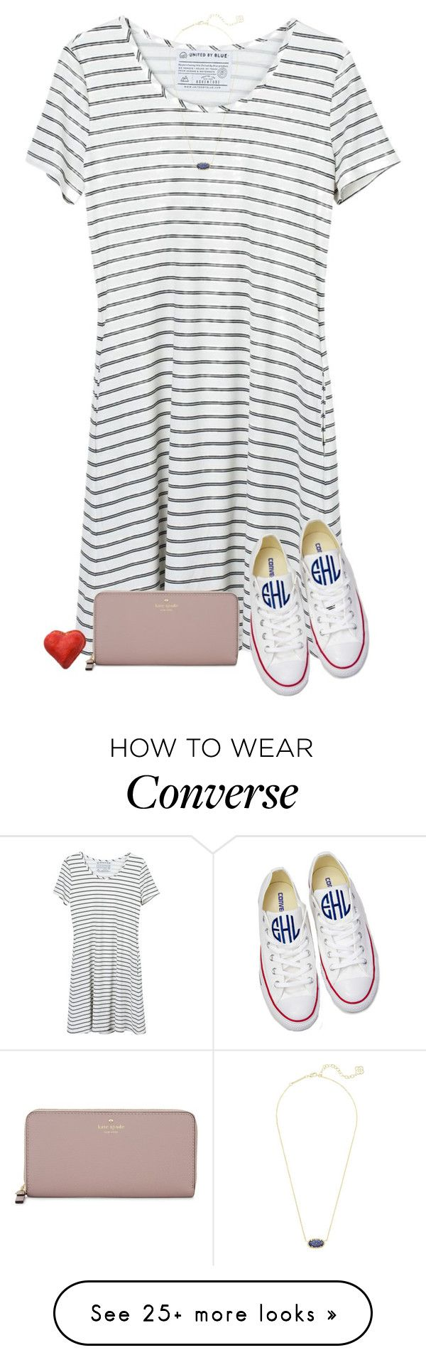 """""""Be good to people for no reason"""" by sweet-n-southern on Polyvore featuring United by Blue, Converse, Kate Spade and Kendra Scott"""