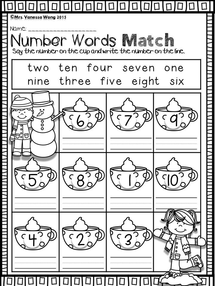 Winter Math And Literacy Centre Kindergarten Winter Number Words Download Free Printables At Preview Math Literacy Winter Math Literacy Worksheets