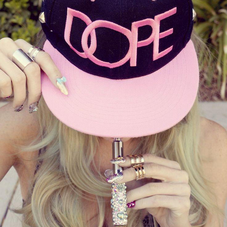 The Crystal Cult   Vape Pen   Girls Who Vape   Pinterest ... Stylish Cool Girl With Hat