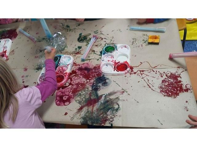 dye painting @ Linwood Playcentre