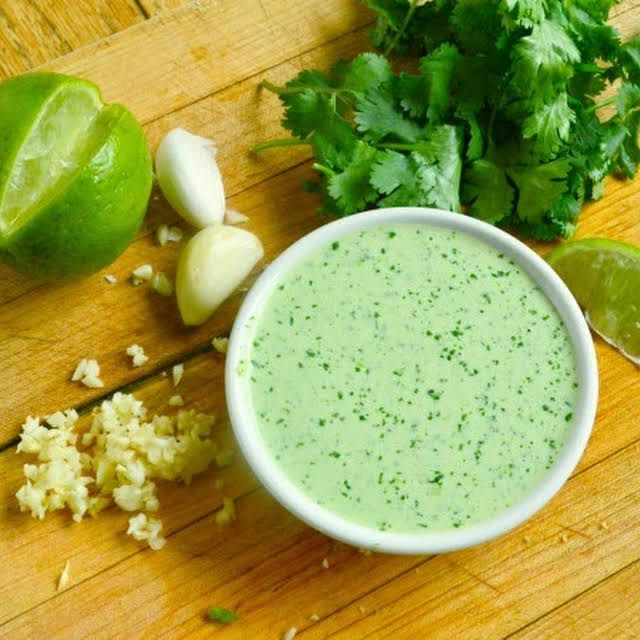 Peruvian Green Sauce With Jalapeno Chiles Cilantro Leaves Garlic Mayonnaise Sour Cream Lime Ju In 2020 Green Sauce Recipe Peruvian Green Sauce Recipe Green Sauce