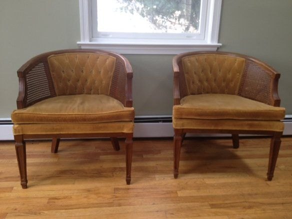 Pair Of Midcentury Hollywood Velvet Tufted Chairs In Catonsville, Baltimore,  MD, USA ~